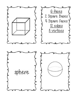 Basic 3D Shape Cards