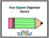 Basic 4 Square Writing Template Color Coded