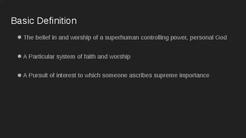 Basic 5 Religions