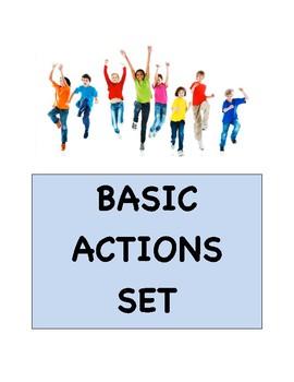 Basic Actions Flashcard Set