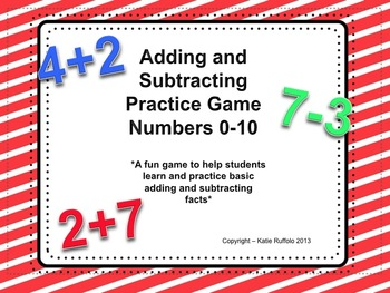Basic Adding and Subtracting Game