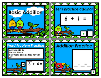 Flipchart: Basic Addition (Adding up to 10)