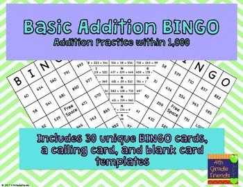 Basic Addition BINGO