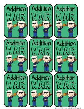 Addition War Card Game