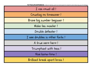 Basic Addition Fact Mastery Award Bracelets!