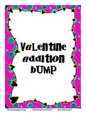 Basic Addition Facts Bump:  Valentine Theme