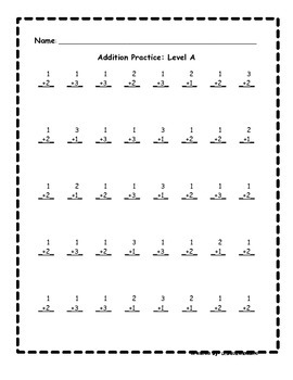 Basic Addition Facts Fluency Program