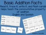 Basic Addition Facts Practice and Flash Cards (English and