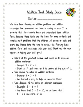 Basic Addition Facts Strategies