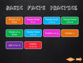 Basic Addition Facts & Strategies Warm Up EDITABLE