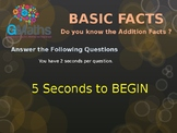 Basic Addition Facts Test