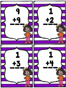 Basic Addition and Subtraction Flash Cards
