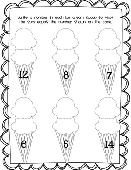 Basic Addition Fluency Worksheet