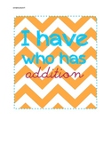 I have who has addition - math game