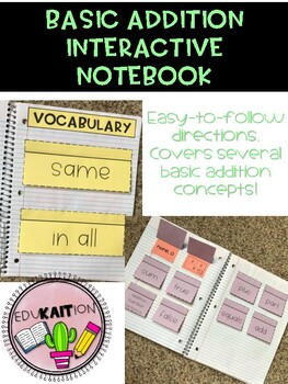 Basic Addition Interactive Notebook