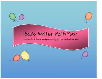 Basic Addition Math Pack