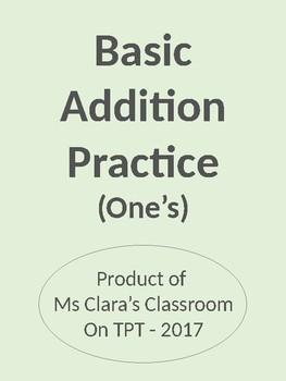 Basic Addition - One's
