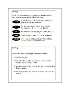 Basic Addition-Part 1