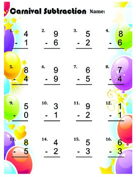 Basic Addition & Subtraction Practice Packet