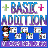 Basic Addition Task Cards with QR Codes