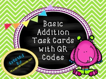 Basic Addition QR Task Cards