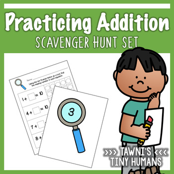 Basic Addition Set - Scavenger Hunt Themed