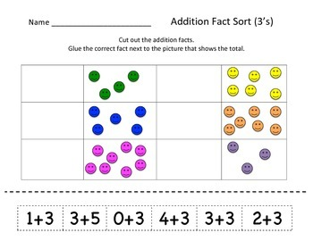 Basic Addition Fact Sorts (0-5 facts)