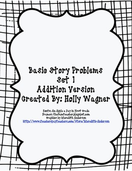 Basic Addition Story Problems