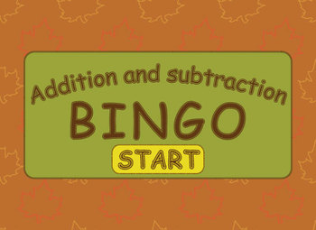 Basic Addition & Subtraction BINGO