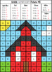Basic Addition & Subtraction School Mystery Pictures