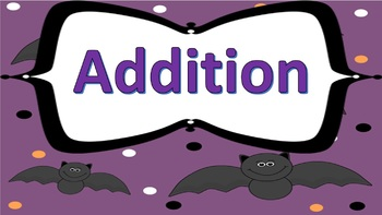 Basic Addition Task Cards Halloween Themed