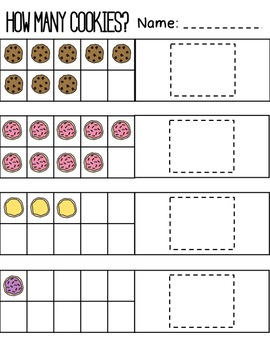 basic addition worksheet set  how many cookies by tawnis tiny humans basic addition worksheet set  how many cookies