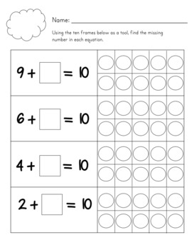 Basic Addition Worksheet Set - Weather