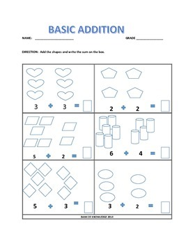 Basic Addition and Counting Practice