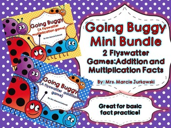 Basic Addition and Multiplication Fact Practice Going Buggy Game Mini Bundle