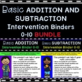 BUNDLE! Basic Addition and Subtraction 0-10 Down Syndrome,