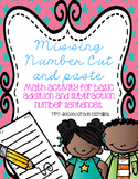 Basic Addition and Subtraction Cut & Paste FREEBIE!