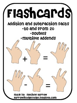 Basic Addition and Subtraction Flash Cards (to and from 20)