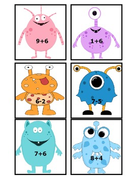 Basic Addition and Subtraction Monster BANG!!!