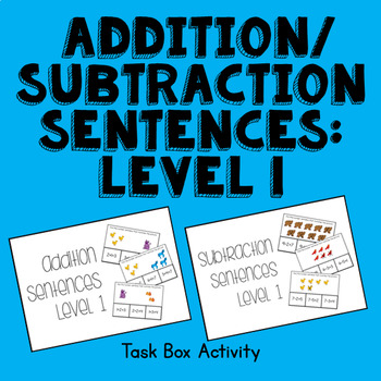 Basic Addition and Subtraction Picture Task Cards