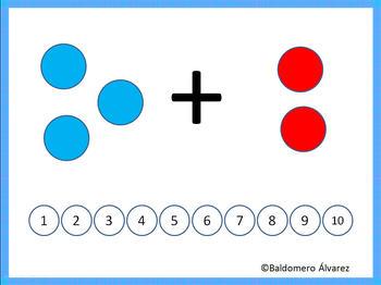 Basic Addition in Kindergarten PPT for  Interactive Whiteboard