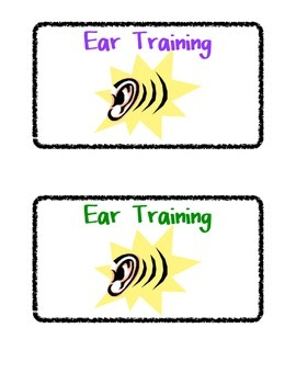 Basic Agenda Cards for Music