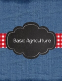 Basic Agriculture (AG) binder covers for high school ag