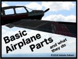 Airplanes—Basic Airplane Parts—ailerons, rudders, elevator