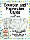 Basic Algebra: Equation and Expression Cards Group Activity or Center