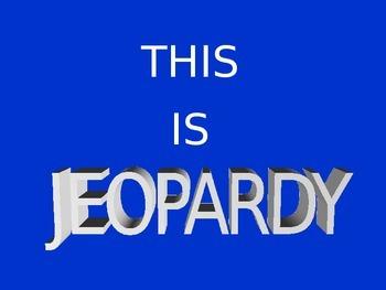 Basic Algebra Jeopardy