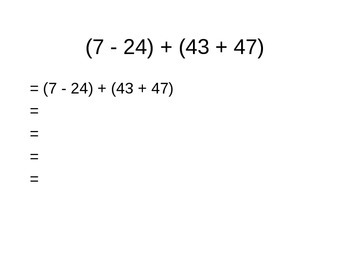 Basic Algebra - Order of Operations;PEMDAS