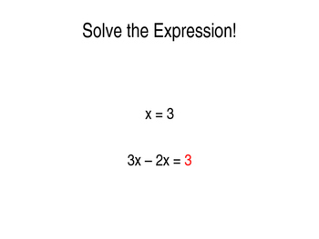Basic Algebra Review Game