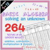 Basic Algebra - Solving an Unknown