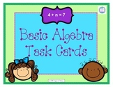 Basic Algebra Task Cards